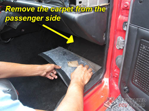 Porsche 944 remove carpet