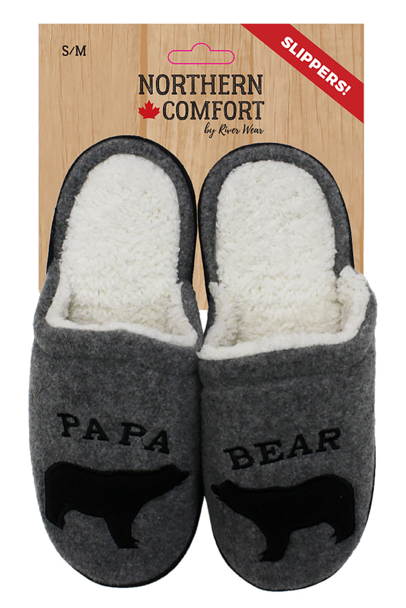 Papa Bear Slippers - Little Moose and Bear Company