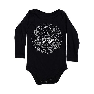 Lil' Canadian Long Sleeve Bodysuit