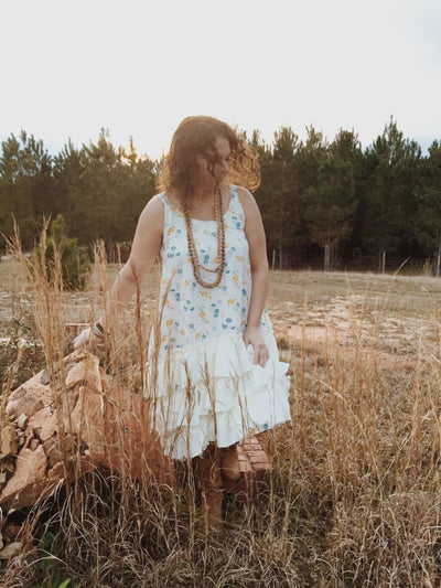 Boho Ruffled Slip Dress