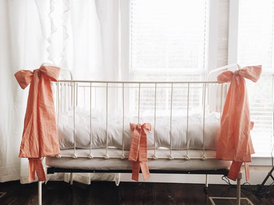 Coral | Large Crib Bow