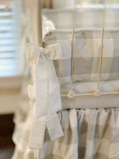Grey Buffalo Check | Farmhouse Crib Bedding Set