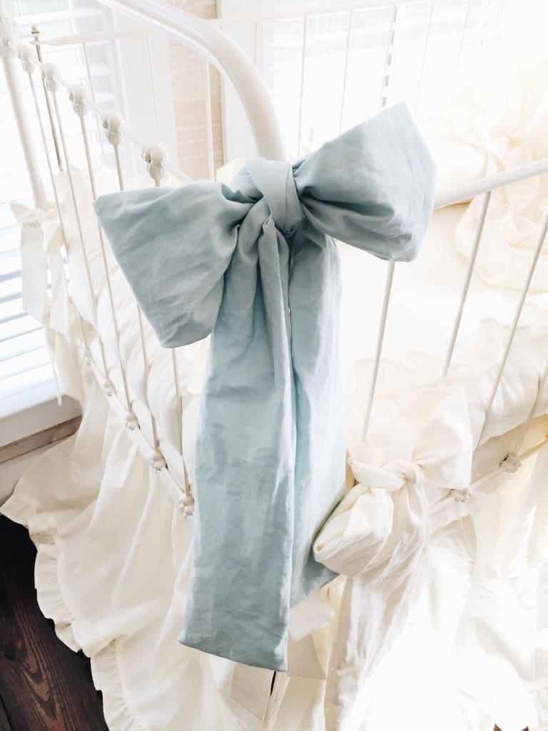 Mist | Large Crib Bow