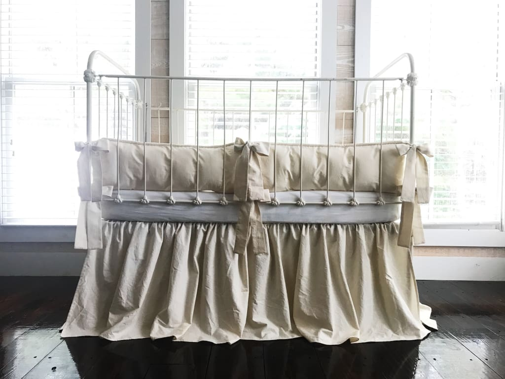Natural Tailored Gender Neutral Crib Bedding Set