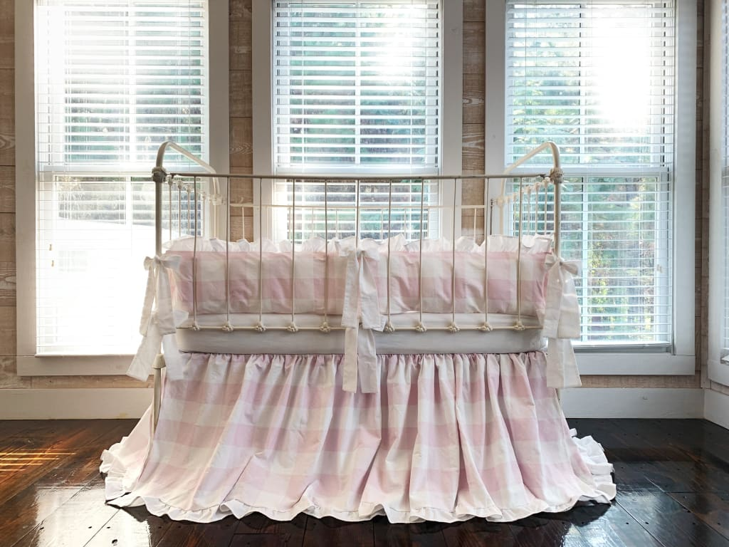 Pink Buffalo Check | Ruffled Crib Bedding Set