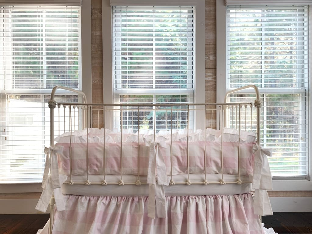 Pink Buffalo Check | Ruffled Crib Bumpers