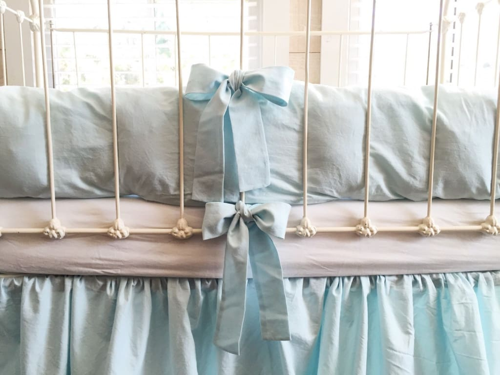 Seaglass | Farmhouse Crib Bumpers