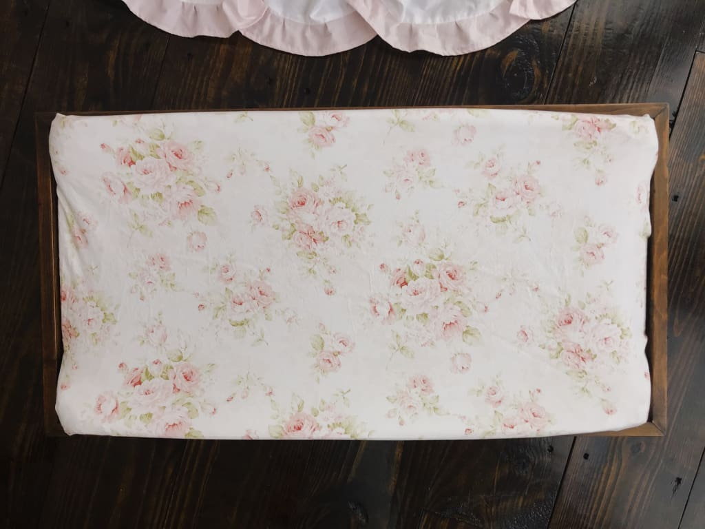 Shabby Chic Watercolor Floral | Changing Pad Cover