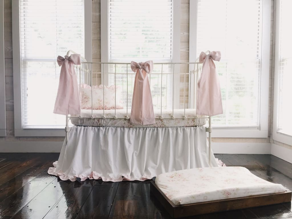 Shabby Chic Watercolor Floral Crib Bedding