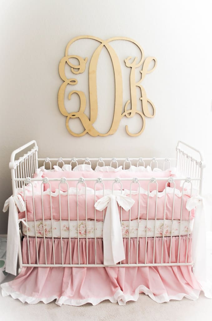 Vintage Glam | Ruffled Crib Bedding Set