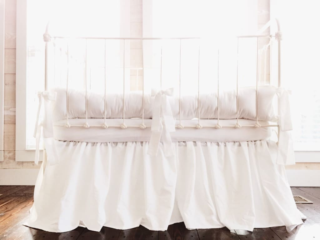 White | Crib Bedding Sets for Twins