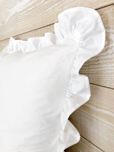 White | Farmhouse Ruffled Euro Sham