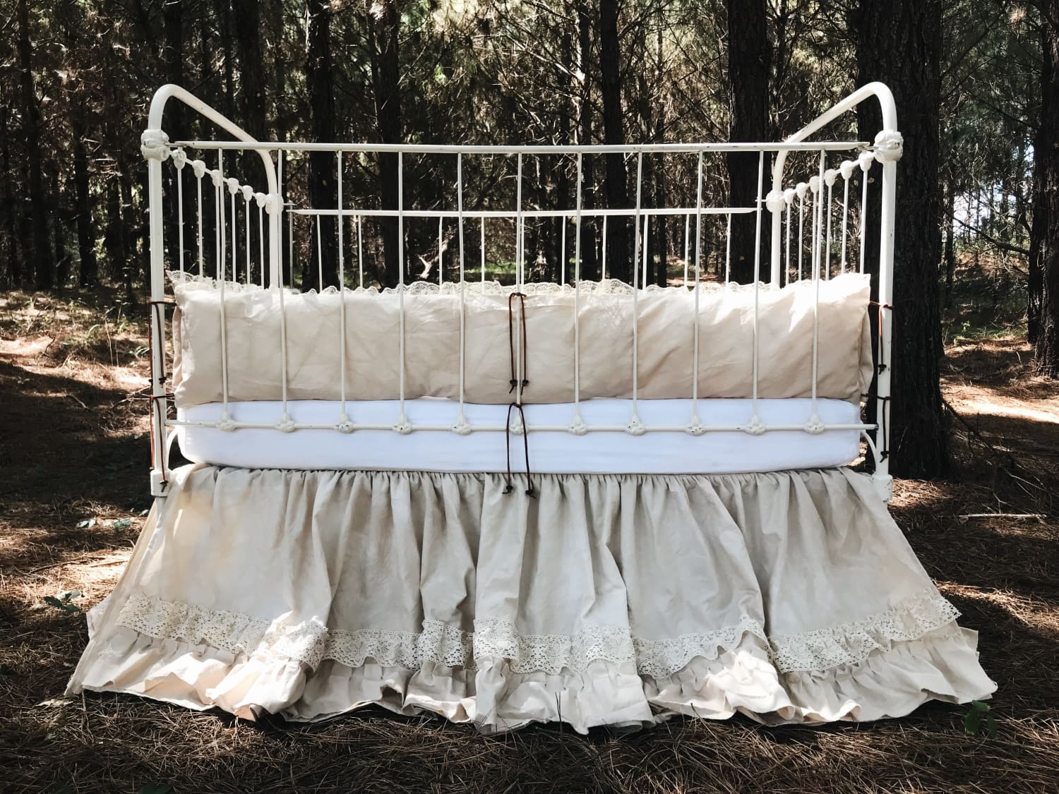 Leather and Lace | Vintage Crib Bedding
