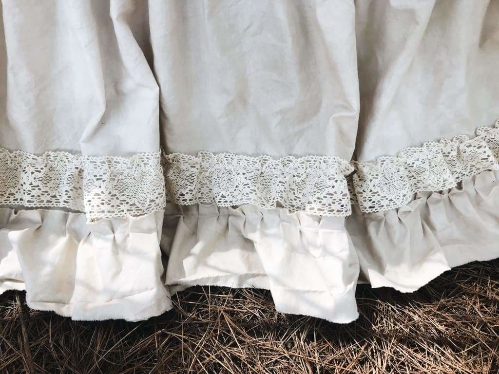 Leather and Lace   Vintage Crib Bedding