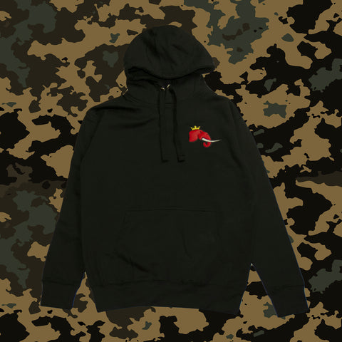 Black Infantry Hoodie w/ Red Elephant