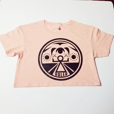 Pink War Goddess Crop Top Tee