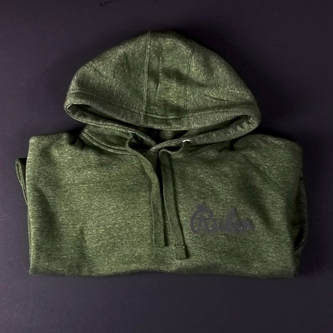 Heather Green Script Hoodie w/ Black 3M