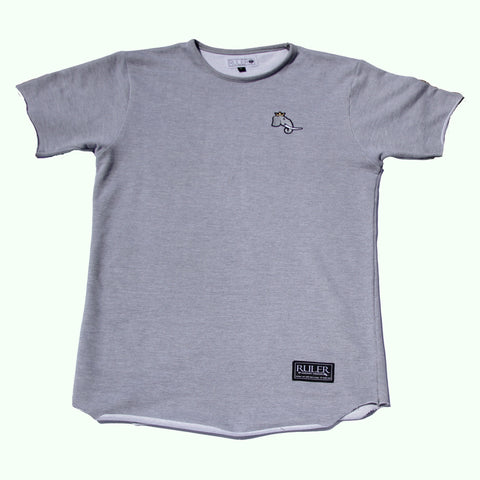 Gray Raw Edge Infantry Tee