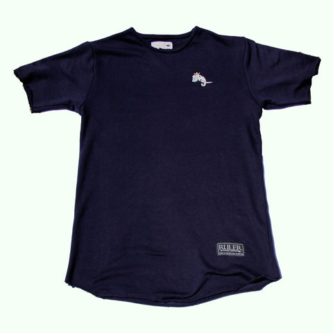 Navy Raw Edge Infantry Tee