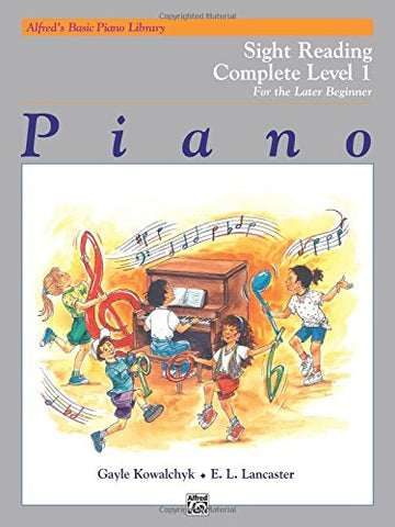 Alfred's Basic Piano Library Sight Reading Book Complete, Bk 1: For the Later Beginner