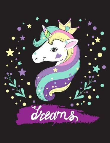 Dream (Journal, Diary, Notebook for Unicorn Lover): A Journal Book with Coloring Pages Inside the book !!