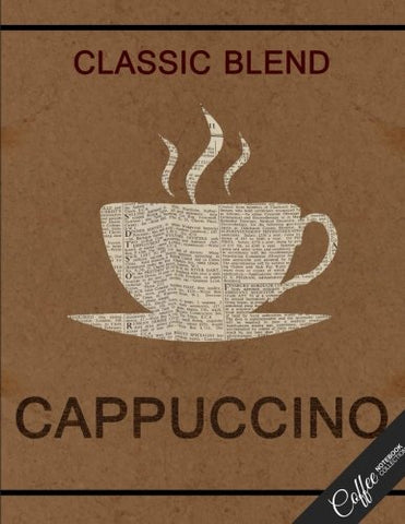 Coffee Notebook Collection: Cappuccino Design, Journal/Diary, Wide Ruled, 100 Pages, 8.5 x 11