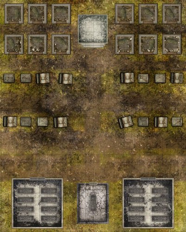 Deadlands Noir: Map Cemetery/Crypt (S2P10705, Savage Worlds)