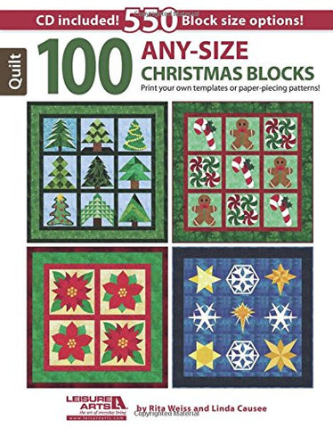 100 Any-Size Christmas Blocks (Book & CD)