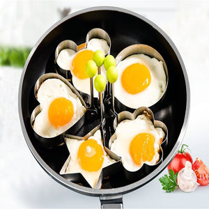 5pcs Set Stainless Steel Egg/Pancake Rings