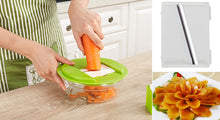Mandoline Vegetable Slicer With 4 Interchangeable Stainless Steel Blades