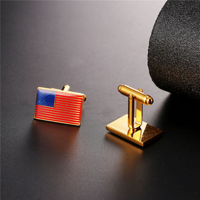 Men's Cuff Links US Flag