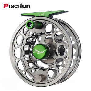 Piscifun Fly Fishing Reel - Sword in CNC-machined Aluminium Gunmetal Finish, Right/Left Handed 3/4, 5/6, 7/8, 9/10 WT