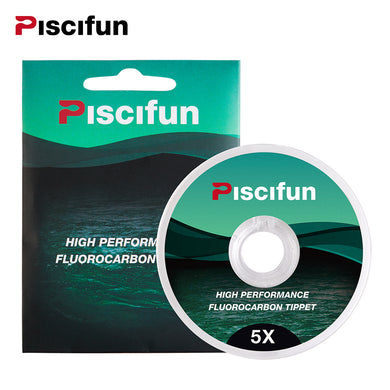 Piscifin 33yd Low Visibility Fluorocarbon Tippet - Superior Abrasion Resistance  0/1/2/3/4/5/6X