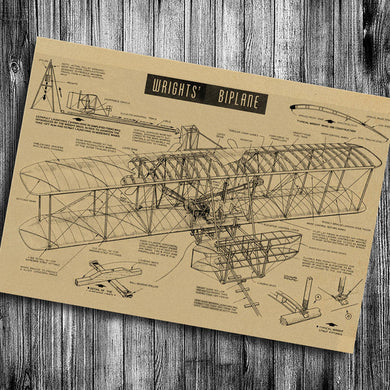 Vintage Wright Brother's Bi Plane 17