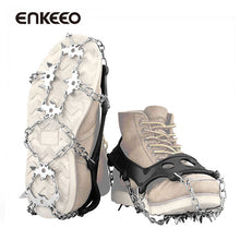 Enkeeo Snow and Ice Cleats - 18 Stainless Steel Spikes M/L/XL