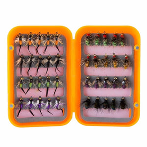 Piscifun 40PCS Hand-tied Fly Fishing Lure Box (3 Variations)