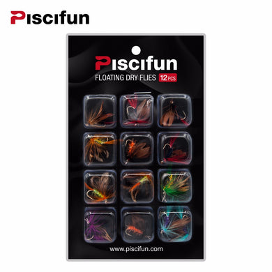 Piscifun 12pc Dry Fly Kit