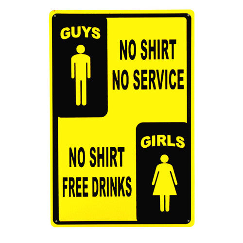 Free Drinks Sign