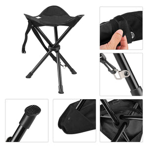 Enkeeo Portable Tripod Folding Stool With Carrying Bag