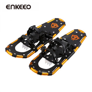 Enkeeo Aluminum Adjustable Snowshoes (4 Sizes & Carry Bag)