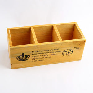 Vintage Wood Storage Box