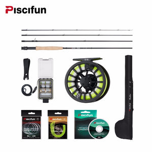 "Piscifun Aluminum 5/6 Fly Reel  & 106"" Carbon Rod Combo"