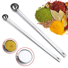 2pc Set Long Handle Stainless Steel Measuring Spoons