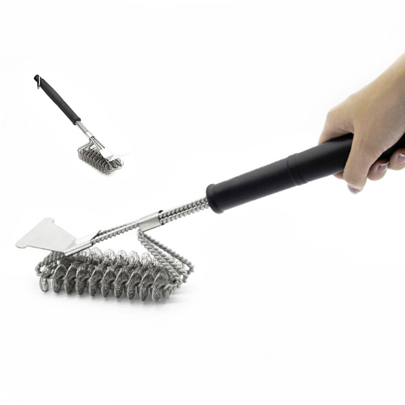 Stainless Steel BBQ Bristle Free Grill Cleaning Brush (Inline)