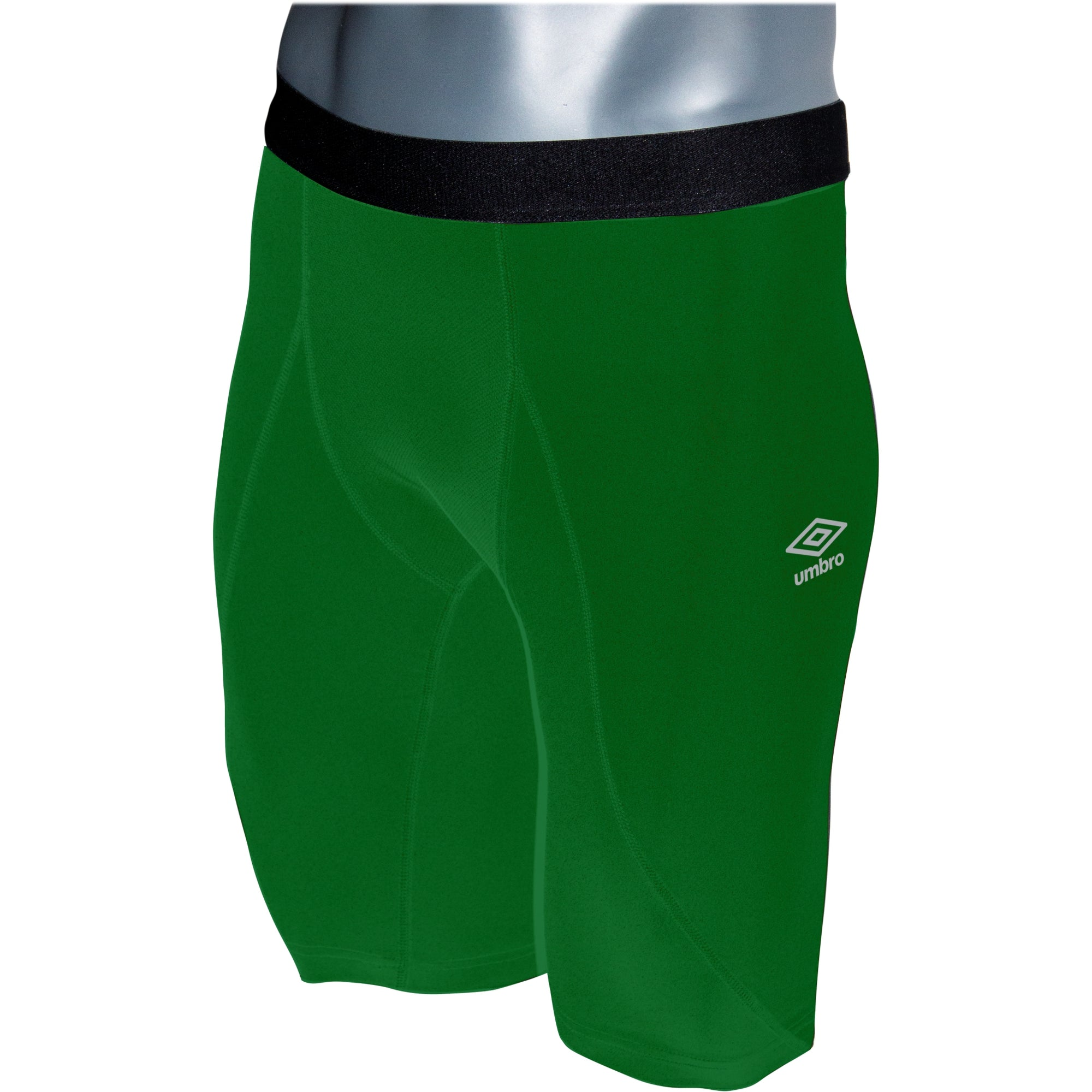 Umbro Elite Player Power Short in emerald with black waist band