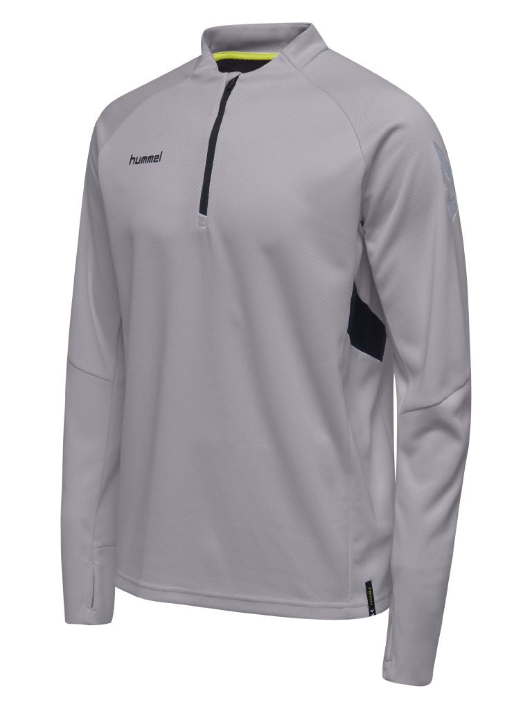 Hummel Tech Move Half Zip Sweatshirt - Grey Melange