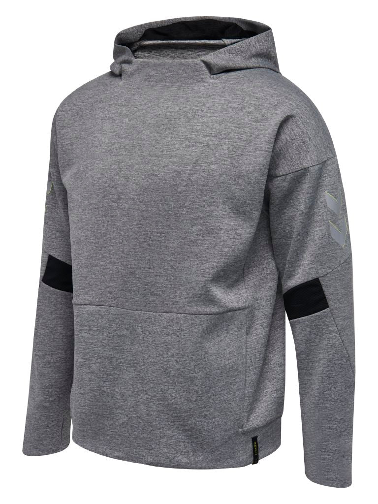 Hummel Tech Move Poly Hoodie - Grey Melange