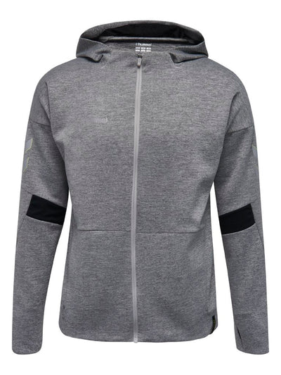 Hummel Tech Move Zip Hoodie - Grey Melange