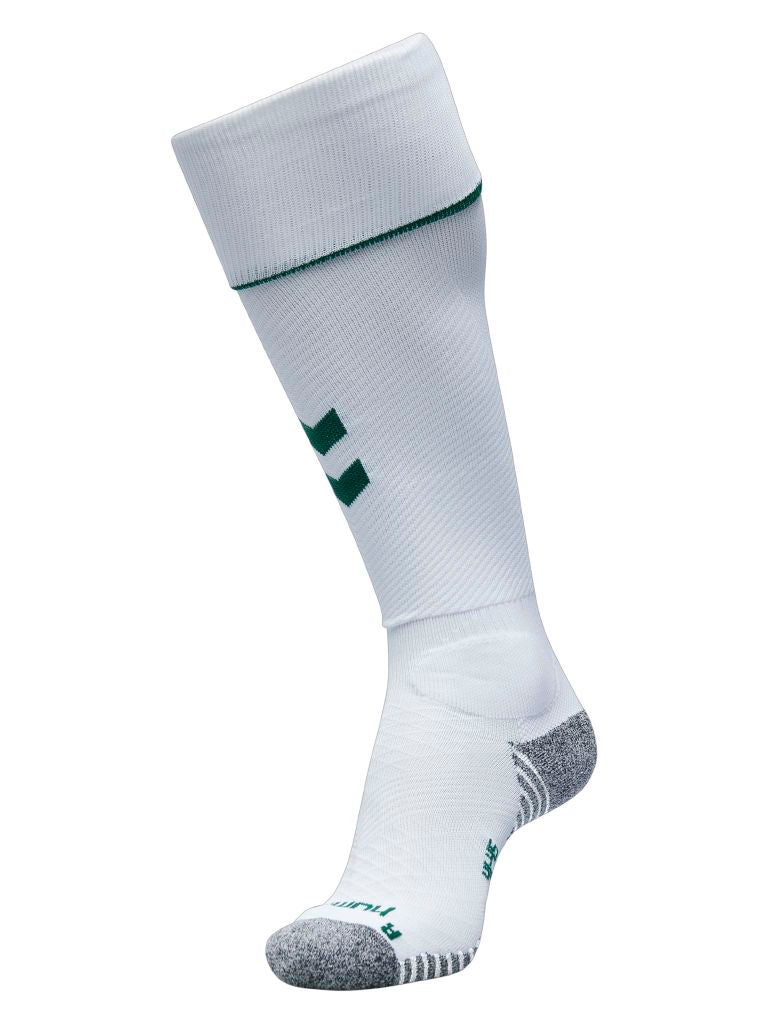 Hummel Pro Football Sock - White/Evergreen