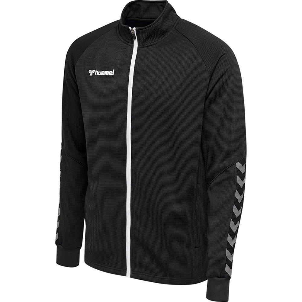 Hummel HMLAuthentic Poly Zip Jacket - Black/White